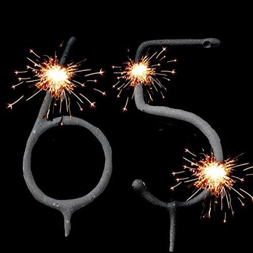 Wunderkerzen-Set für Tortendeko Zum 65. Geburtstag, Geburtstagskuchen-Dekoration