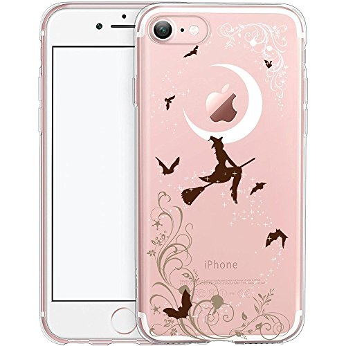 Cover iPhone 7, TrendyBox Cute Case Cover per iPhone 7 (Streghe di Halloween)