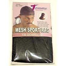 Tommy-Cinghie di pezza, tessuto a rete, colore: nero, Du Rag Doo Rag#1022 Berretto