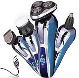 4 in 1 Elektrorasierer Rasierapparat für Männer Elektrorasierer Wasserdichte Gesichtsbürste