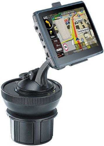 NavGear Halter für Navi: Universal-Getränkehalter-Adapter für Navi-Halterungen (Navi-Halter für Auto und LKW)