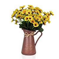 Taba Saksıda 3 Demet Papatya Yapay Çiçek