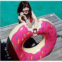 ZHANGJIANJUN Anillos de Piscina Inflable Boya Vida Nadar Nadar Ring con Bomba de Aire,Rosa