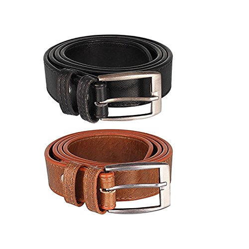 London Fashion Black Brown belt Combo For Men