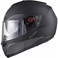 Black Optimus SV Flip Front Motorcycle Helmet M Matt Black