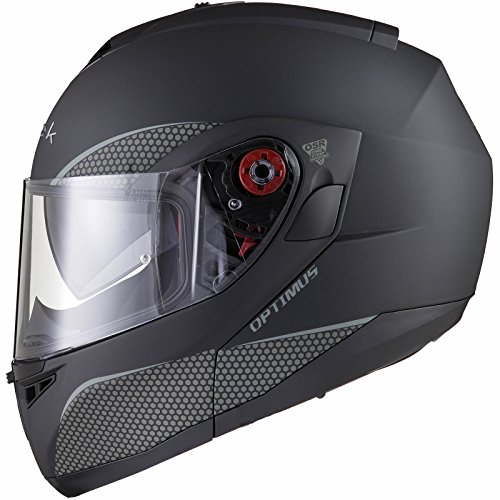 Black Optimus SV Motorrad Roller Klapphelm XXL Matt Black