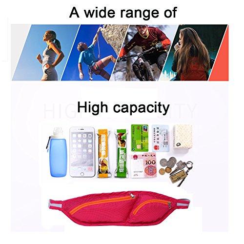 Multi–Funktions Freizeit Gürtel Wasserdichte Running Sports Taschen Anti–Diebstahl Persönlichen Handy Damen und Herren Outdoor Taschen Hellblau