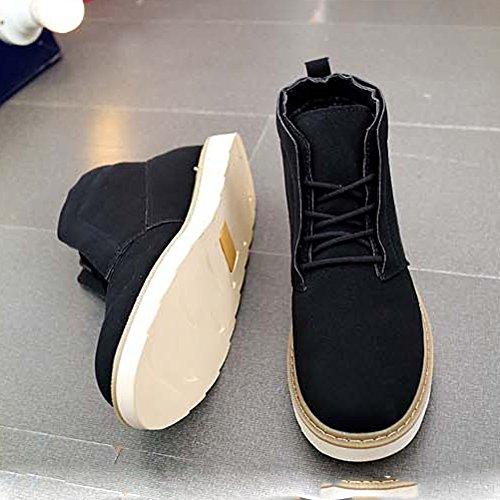 Chaussure pour adulte mixte les amoureux chukka derby moderne jeune jeunesse soulier de coton velours moderne outillage automne hiver Noir