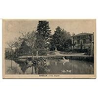 Anni '30 Casella Villa Stagno Guller Genova dest. Prato Toscana FP B/N VG ANIM Cartolina Postale