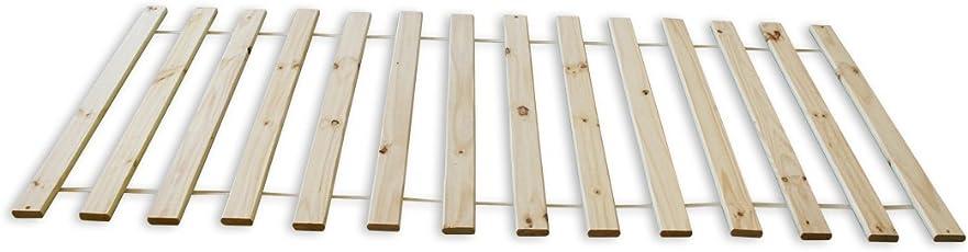 KMH®, Rollrost / Lattenrost 14 Latten (Kiefer massiv - 90 x 200 cm) (#201106)