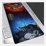 IGIRC Mouse Pad World of Warcraft 800X300Mm, Tappetino per Mouse da Gioco con Precisione E velocità Perfetto con Base Spessa 3Mm, per Notebook, Pc, L
