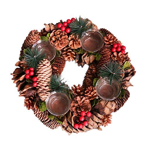 Chiic Candelabro de guirnalda de Navidad