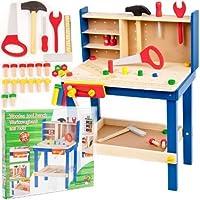 URBNTOYS® 34 Piece Wooden Work Bench