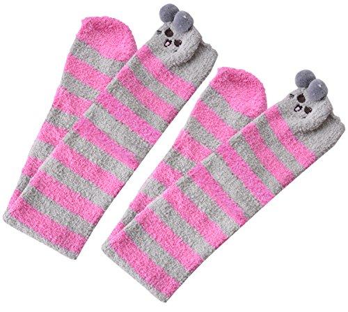 Fascigirl Kniestrümpfe Kinder, Kitten Winter OverKnee High Fuzzy Gemütliche Socken für Mädchen