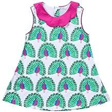 PAOLIAN Vestidos para Bebe Niñas Verano 2018 Vestidos Princesa Niñas bautiz  Impreso Pavo Real Sin Manga ca3d68f0524e