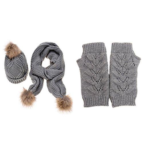 Jelinda Mujer Otoño invierno gorro sombrero guante