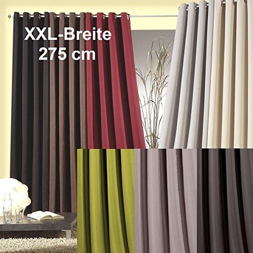 Tenda oscurante/termica xxl con occhielli, opaca, 245 x 275 (a x l), isolamento da freddo e caldo,pronte all'uso, tenda decorativa tipo 139., tessuto, fango, hxb 245x275 cm
