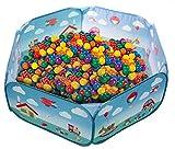 Laap Piscina Palline Bambini Tenda Gioco Pieghevole Interno/Esterno Spazio Giochi Colorato con Custodia (Palline Non Incluse)