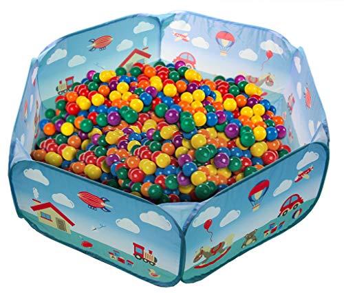 Laap piscina di palline per bambini tenda da gioco pieghevole per interno/esterno spazio giochi colorato con custodia (palline non incluse)