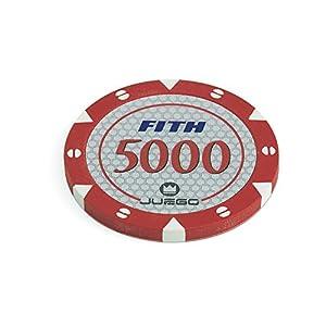 Juego - Fichas de Poker 100, 14 g, Color Rojo (ITA Toys JU00117)