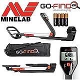 Minelab go-find 20Metalldetektor mit wasserdichter Coil, Tragetasche und Batterien