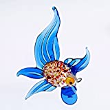 CRISTALICA Glas Figur Glastier für Vitrine Fisch Handgeformte Unikate Tier