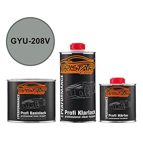 Autolack Set Dose spritzfertig Gen. Motors / Hummer / Oldsmobile / Pontiac / Saturn GYU-208V Ice Breeze Metallic Basislack + 2K Klarlack 1,25L (208-v-motor)