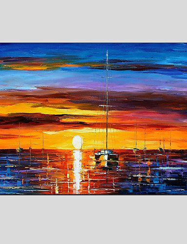 KK&MM dipinti ad olio vista mare moderno, materiali tela con struttura allungata pronta per essere appesa formato: 60 * 90cm. (Vista Wall Frame)
