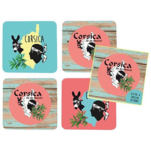 Korsika-box (Korsika Box aus 4Untersetzern)