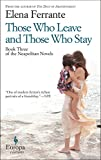 Those Who Leave and Those Who Stay by Elena Ferrante front cover