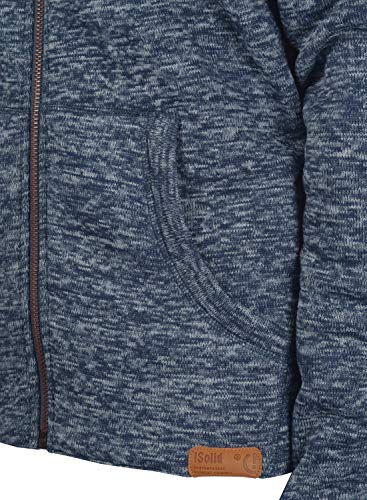 !Solid Luki Herren Fleecejacke Sweatjacke Jacke mit Stehkragen und Melierung, Größe:S, Farbe:Insignia Blue Melange (8991) - 5
