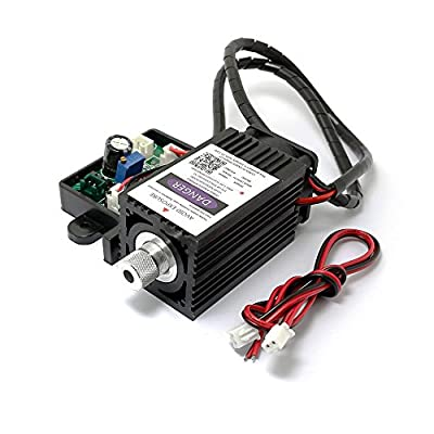 Q-BAIHE 405nm 500mw 12V Blue Laser Module for DIY Laser Engraving Machine with TTL