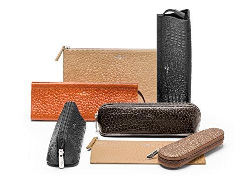 Faber-Castell Leather Slip Case for E-motion Mechanical Pencil/Ballpen - Black