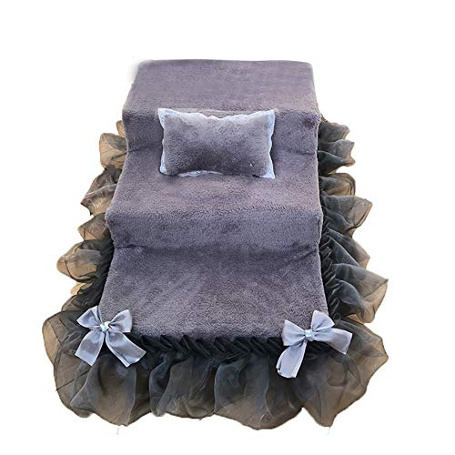 Sponge Rock (Hundetreppe Grey Pet Stairs - 3-stufige Pet Bettleiter mit Rock, Pet Climbing Sponge Stair 65 × 40 × 30 cm)