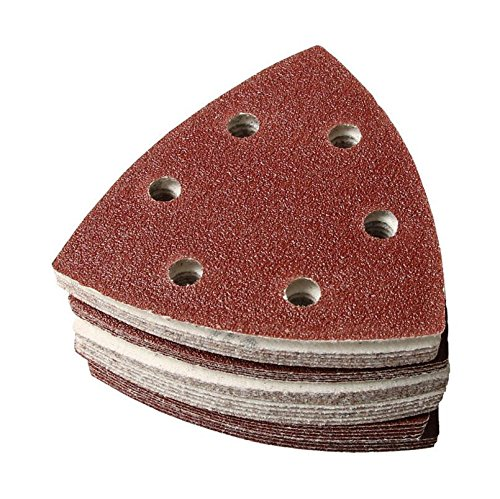 Kingwin 40 pcs Grain Mouse Triangle Feuilles abrasives Disques Velcro mixtes 40 80 120 240