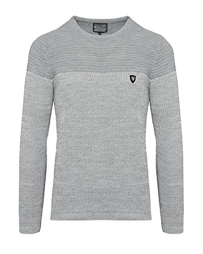 Karl's People Herren-Strickpullover K-114 Streetwear Menswear Autumn/Winter Knit Knitwear Sweater CRSM/Karl's People CARISMA Fashion Grey