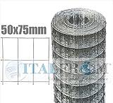 ITALFROM Rolle 25mt Zaun Drahtgeflecht verzinkt–Trikot: 75x 50–Gewindedurchmesser: mm1,8Netz–Höhe: 200cm