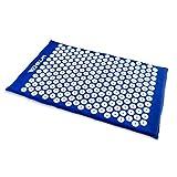 Akupressurmatte mit Massagenoppen - Blau ca. 66 x 41 x 3 cm - Massagematte zur Schmerz Behandlung - Grinscard