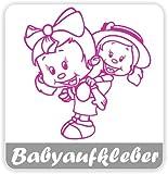 Babyaufkleber, Geschwisteraufkleber für Auto mit Wunschtext (GS-11)