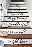 (33x60 cm) Autocollants Pour Escaliers 'In this House We Do We Love' Texte Mots Vinyle Mural