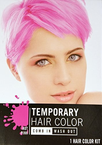 Temporary Hair Color Dye, Hot Pink, Cherry Red, Electric Blue Single Use, Colors May Vary by Greenbrier (Cherry Red Hot)