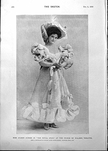 Stella Reale Antica Alma Murray Beatrice Cenci 1898 di Aileen D'Orme della Stampa
