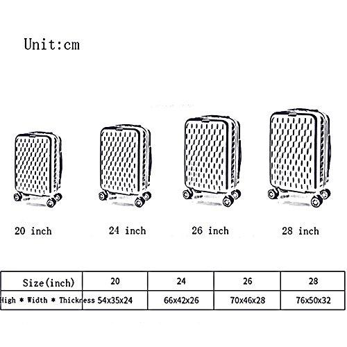 Resistent - Verschleiß ABS + PC TSA Passwort Schloss Trolley Fall Aluminium Alu Ruten Starke Lager Koffer Student Gepäck Tasche Weibliche Male Boarding - Box 20/24/26 Zoll ( Farbe : 4 , größe : 20 inc 2