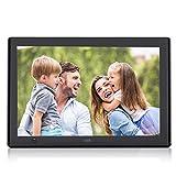 XYmart Cadre Photo Numérique  UI Surface 10 Pouces Avec Motion Sensor 1024 x 600 Cadre Photo Numérique Multifonctions Haute Résolution