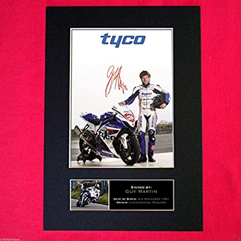 GUY MARTIN Isle Of Man TT Signed reproduction autograph Mounted Photo PRINT