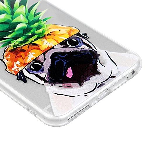 Badalink Coque iPhone 6 Plus / iPhone 6S Plus, Case Housse Étui Bumper Coque de Protection TPU Silicone Gel Transparent Souple Flexible Ultra Mince Slim Léger Anti Rayure Antichoc Housse iPhone 6 Plus Chien