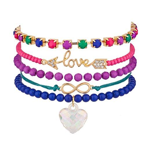 lux-accesorios-love-flecha-corazon-infinity-pave-rainbow-perlas-pulsera-candy-amistad-set