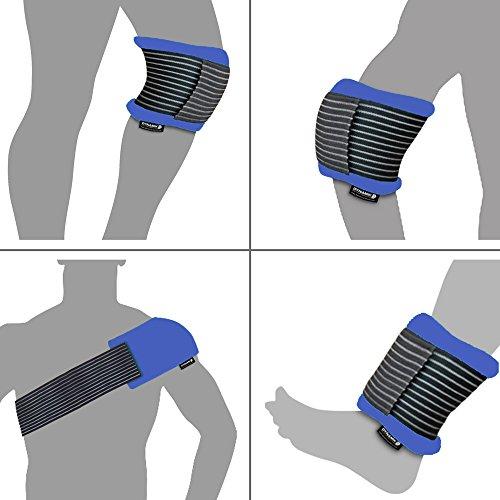 Warm- und Kalt-Kompresse mit Kompressionsmanschette für Rücken/Knie-Schulter-Knöchelverletzungen - Wiederverwendbar - Größe L