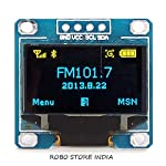 Size: 0.96 Resolution: 128X64 Color: Yellow and Blue Viewing angle: greater than 160 degrees Supported platforms: for arduino, 51 series, MSP430 series, STIM32 / 2, SCR chips Low power consumption: 0.04W during normal operation Support wide voltage: ...