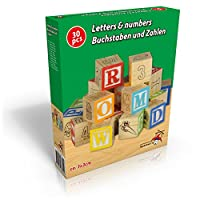 Letters & Numbers Wooden Blocks